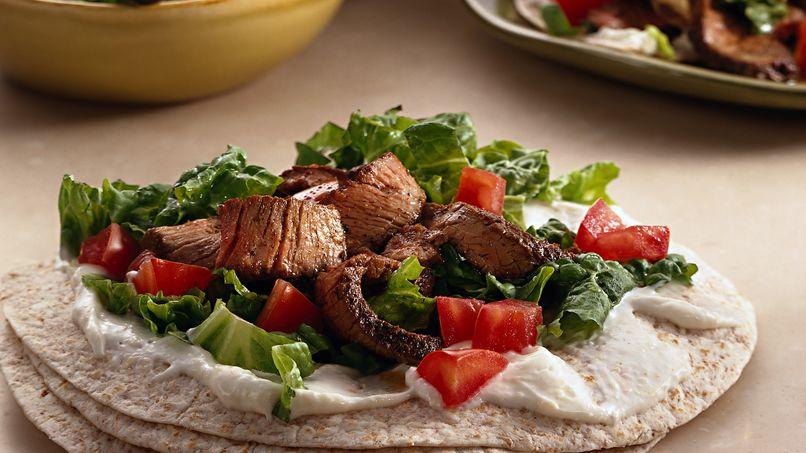 Tacos de Res, Lechuga y Jitomate