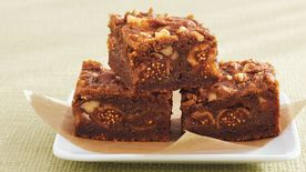 Fig-Walnut Gingerbread Bars