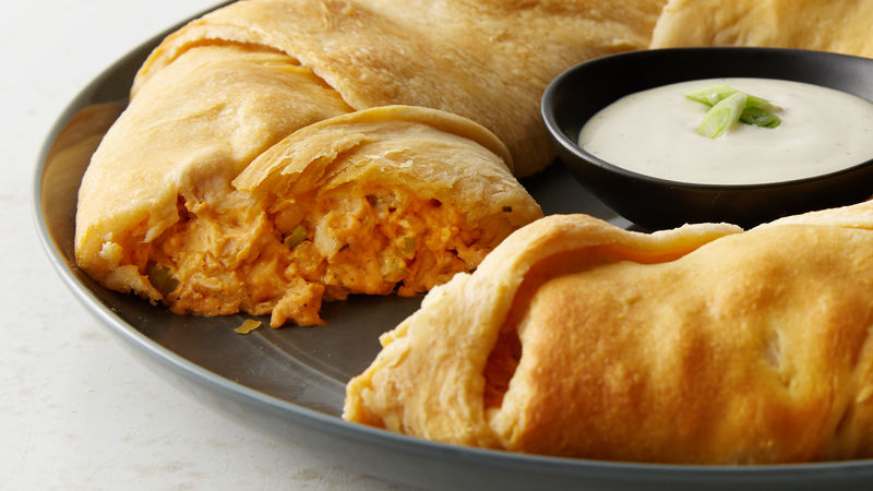 Buffalo Chicken Crescent Ring Recipe Tablespoon Com