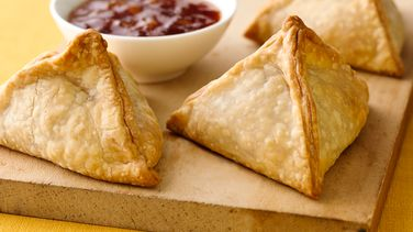 Spicy Beef and Sweet Potato Samosas