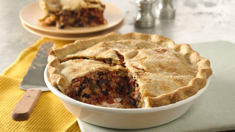 Cajun Beans and Rice Pot Pie
