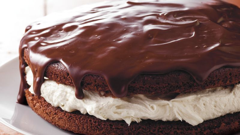 Giant Ganache Topped Whoopie Pie