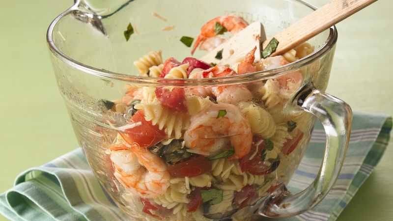 Warm Italian Shrimp Salad