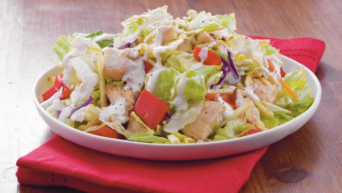 Shoestring Potato Chicken Salad