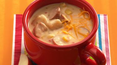 Cheesy Hot Dog Chowder