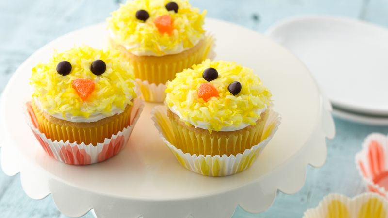 Easter Chicks Cupcakes Recipe Tablespoon Com