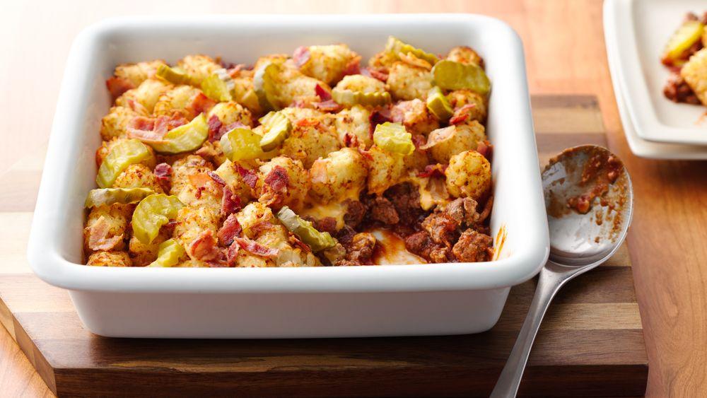 Bacon Cheeseburger Potato Casserole