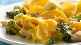 Chicken and Three-Cheese Potato Casserole