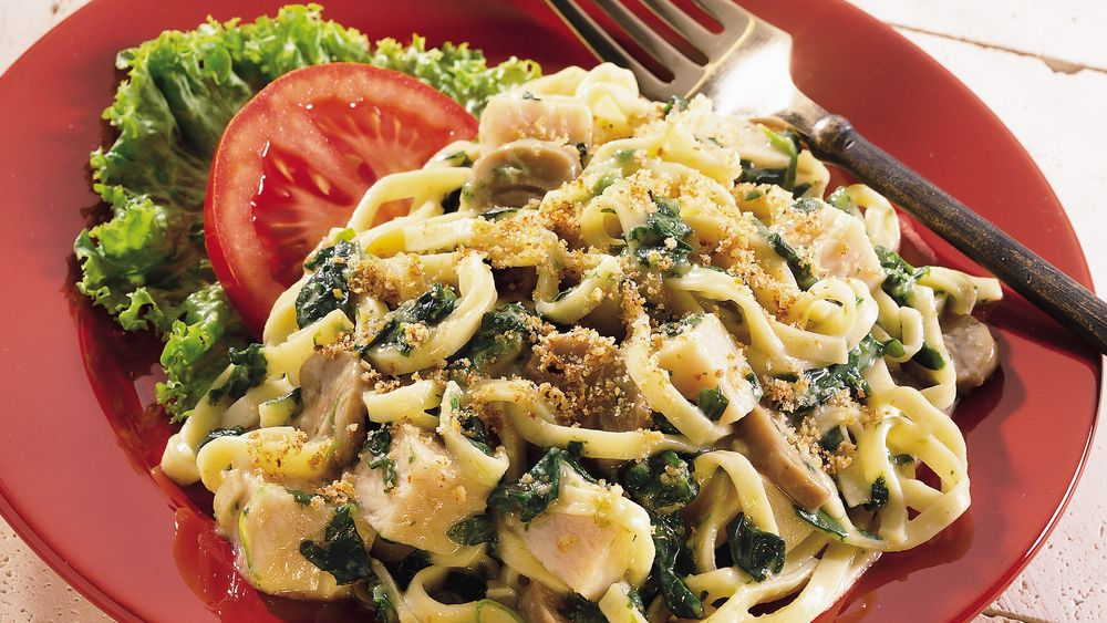 Turkey Tetrazzini Florentine recipe from Pillsbury.com