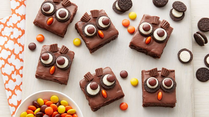 Frosted Owl Brownies