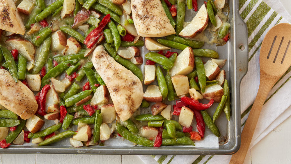 Chicken and Vegetables Sheet-Pan Meal