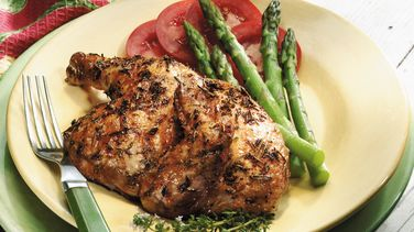Grilled Herbed Cornish Hens