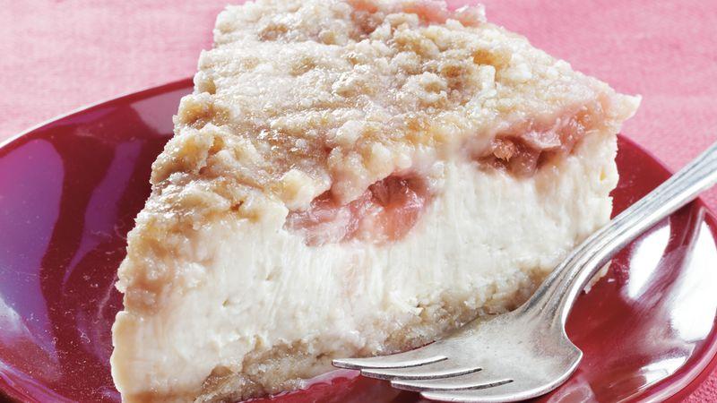 Rhubarb Streusel Cheesecake
