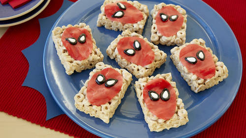 Cereal bar recipes bettycrocker spider man cereal bars ccuart Choice Image