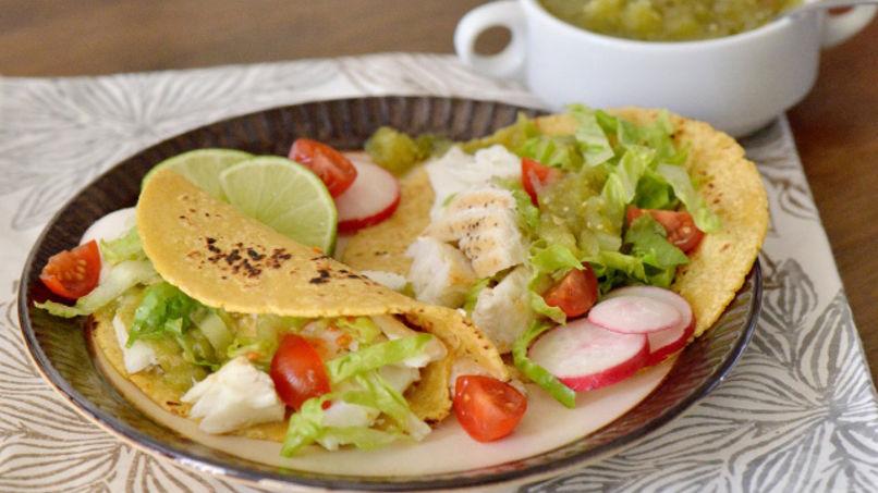 Baked Halibut Tacos