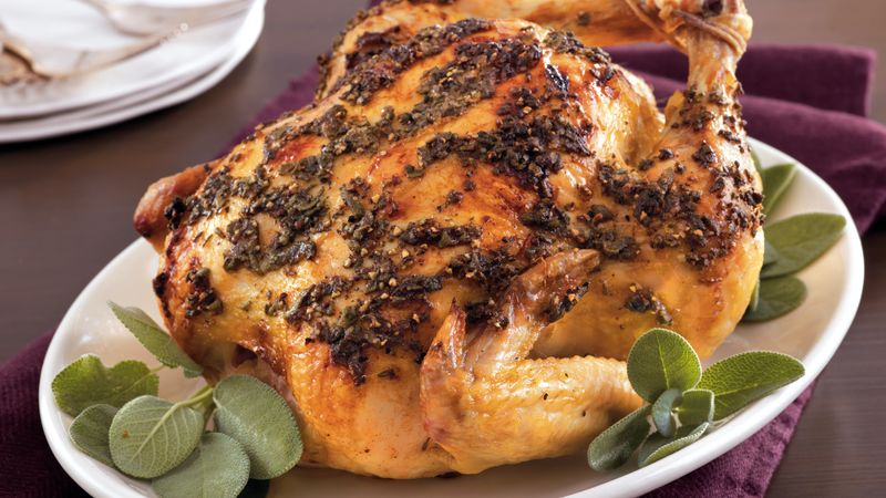 Apple Sage Roasted Chicken