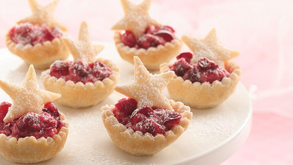 Cranberry Mousse Mini-Tarts recipe from Pillsbury.com