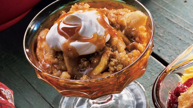 Caramel Apple and Pear Crisp