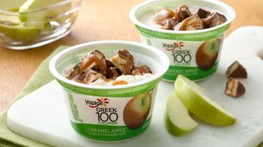 Candy Bar Caramel Apple Yogurt Dip