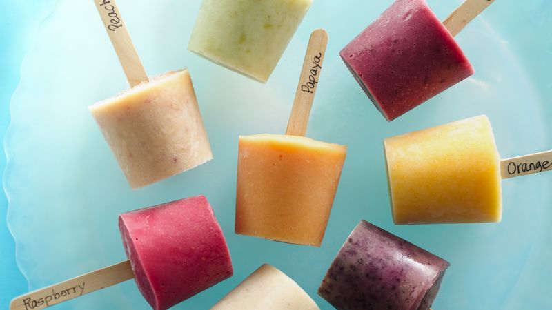 Fresh Fruit Frozen Yogurt Pops Recipe - BettyCrocker.com