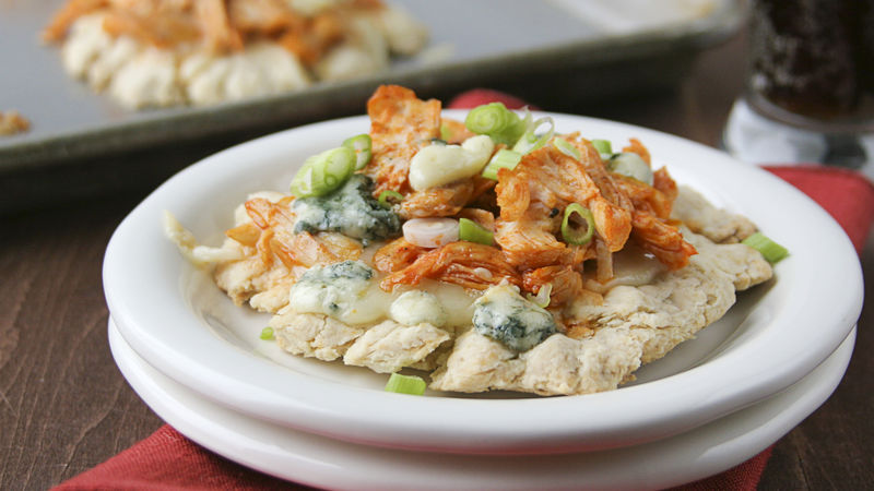 Mini Buffalo Chicken Bisquick® Pizzas