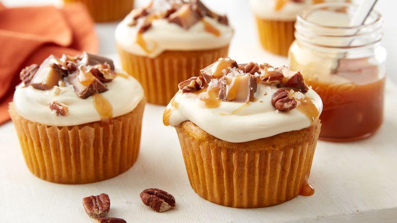 Pumpkin Salted Caramel  Cupcakes