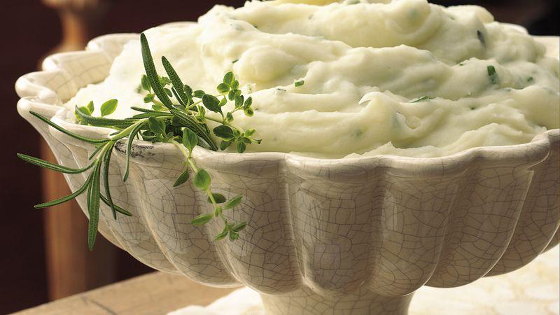 Garlic Herb Mashed Potatoes Recipe Bettycrocker