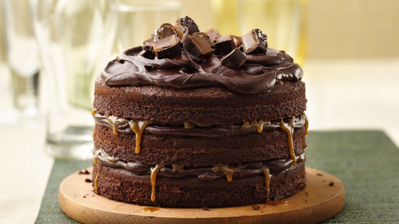 Tall Dark And Stout Chocolate Layer Cake Recipe Bettycrocker