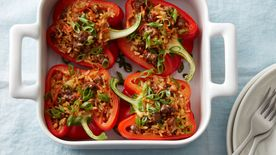 Teriyaki Beef Stuffed Peppers (Cooking for 2)