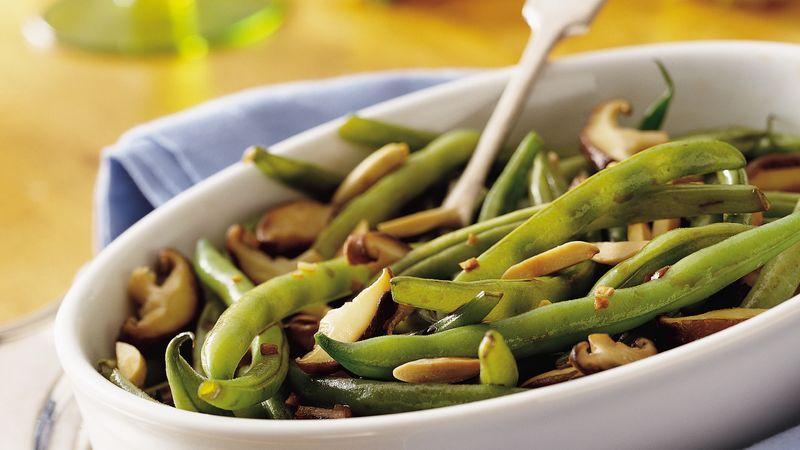 Green Beans with Shiitake Mushrooms