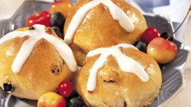 Cherry-Berry Hot Cross Buns