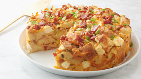 Bacon and Cheddar Cheesecake Strata