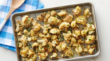 Easy Parmesan Roasted Cauliflower