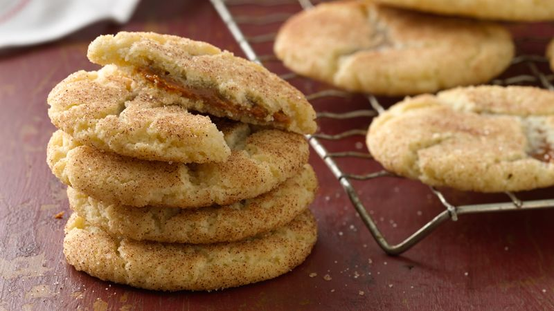 Salted Caramel Stuffed Snickerdoodles Recipe Bettycrocker Com