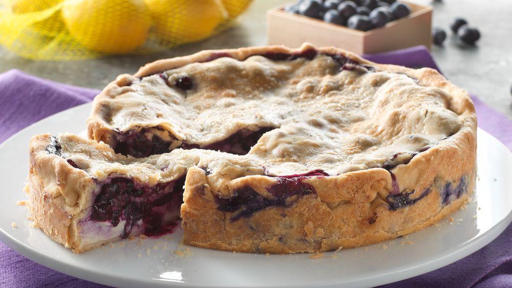 Deep Dish Lemon Blueberry Pie