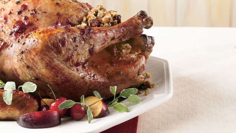 Cherry-Glazed Turkey with Cherry-Apple Stuffing