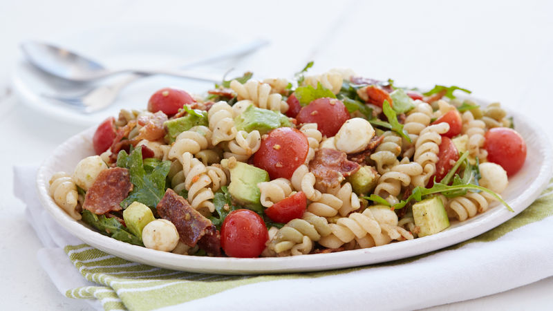 Bacon Avocado Caprese Pasta Salad