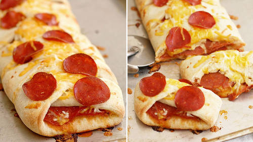 Pepperoni Pizza Braid Recipe