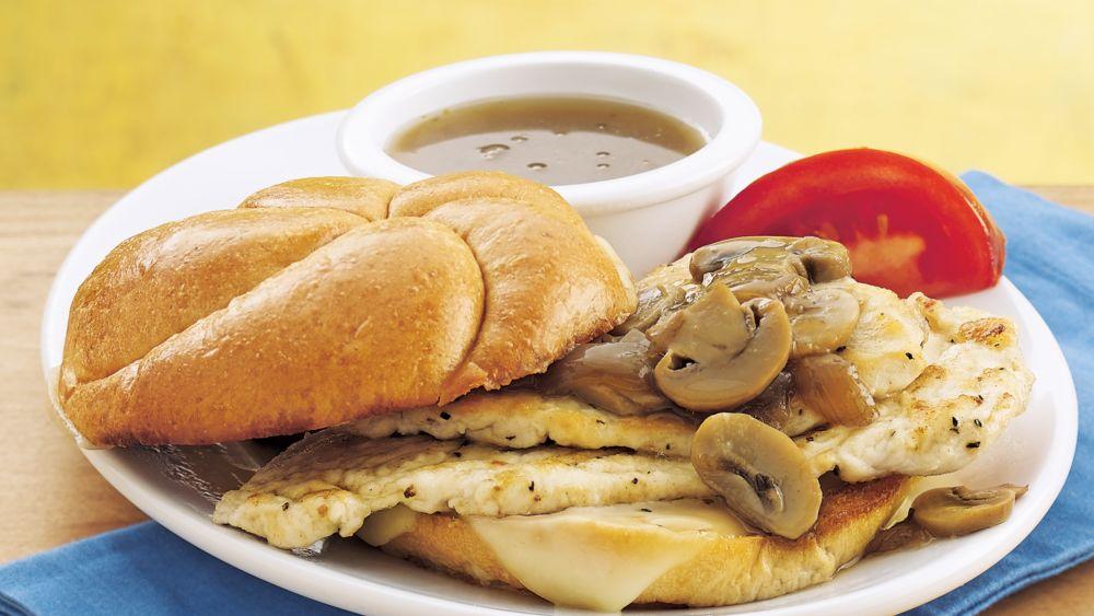 Chicken Marsala Sandwiches