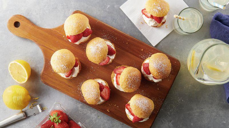 Strawberry Lemonade Crescent Cream Puffs