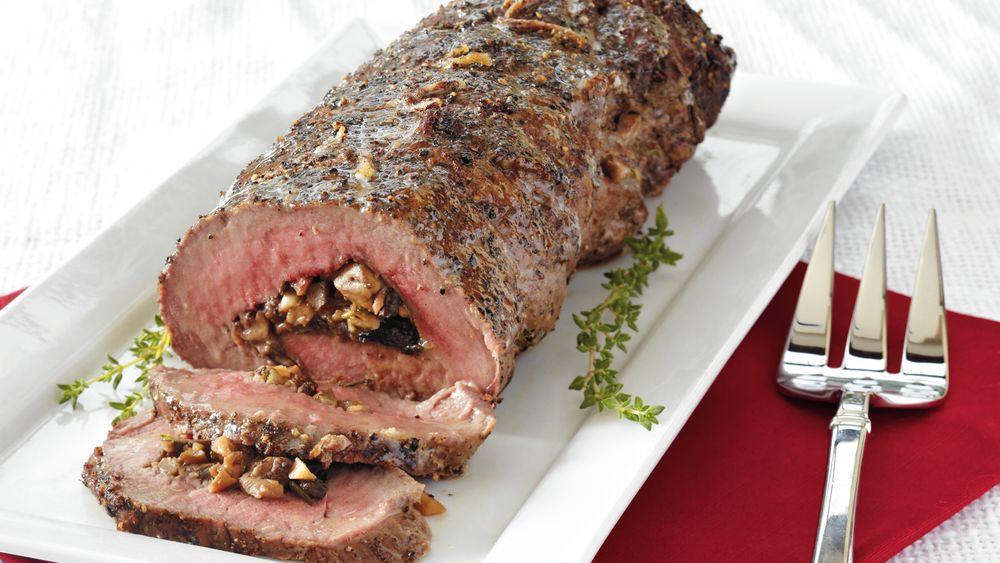 Mushroom-Herb Stuffed Beef Tenderloin recipe from ...