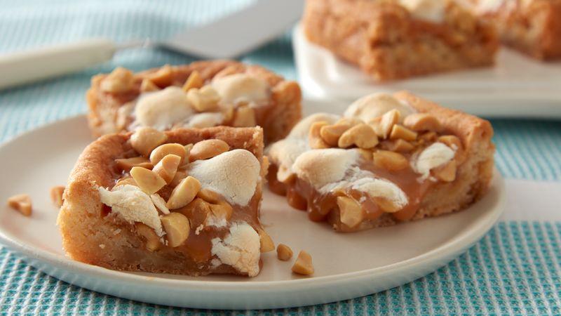 Salted Peanut-Caramel-Marshmallow Bars