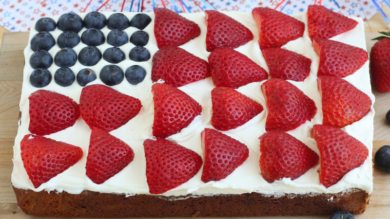 Flag Cookie Cake