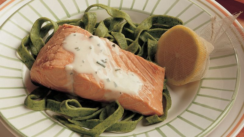 Salmon with Rosemary Sauce