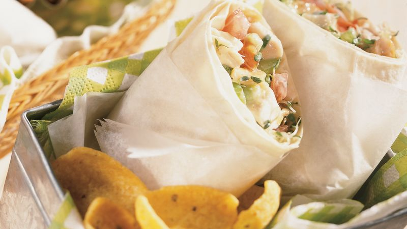 Cashew Chicken Wraps