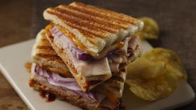 Barbecued Turkey and Cheese Panini