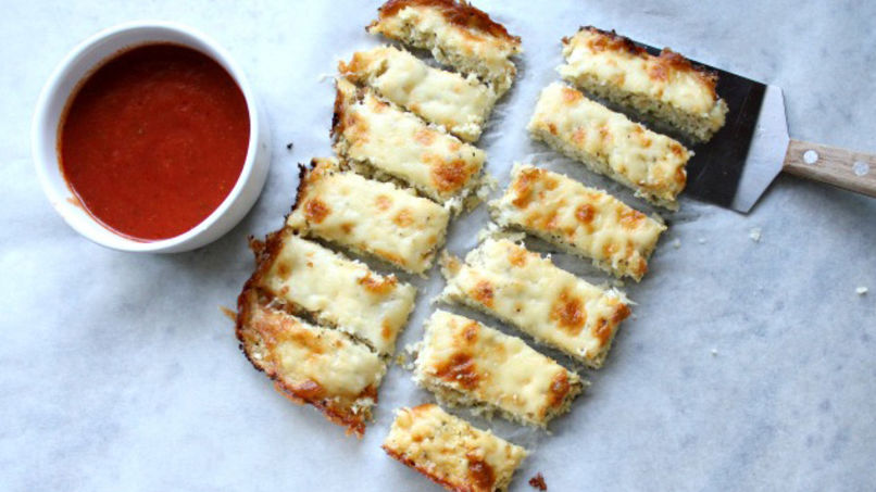 Cauliflower and Cheese Breadsticks