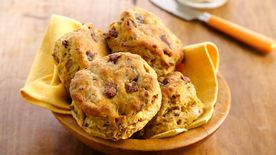 Sweet Potato-Bacon Biscuits