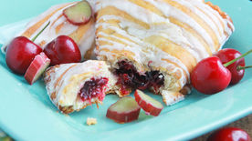 Cherry Rhubarb Turnovers