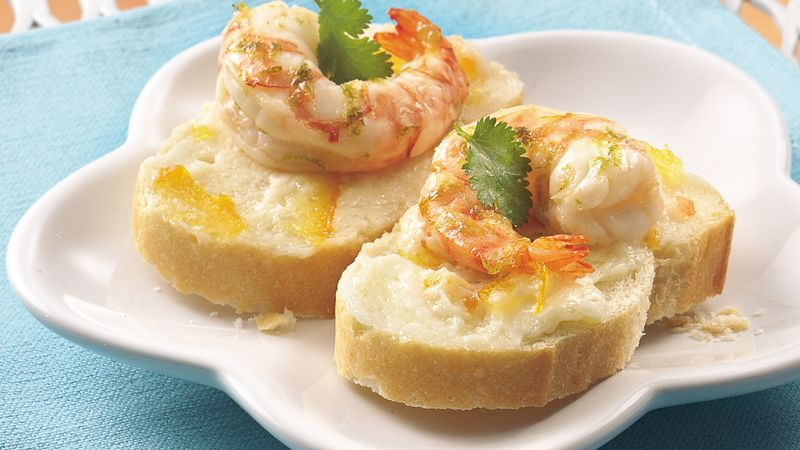 Citrus-Marinated Shrimp Canapés